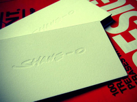 blind impression, letterpressed business cards