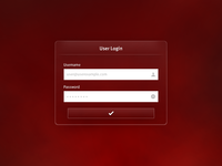 Red Velvet Login Form