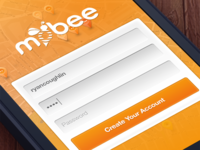 Mobee Login + Create Account