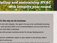 Integrity Heating & Air website redesign