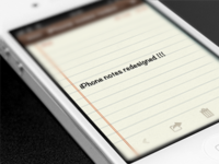 iPhone notes app redesign