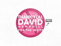 Thank You - David Hemphill