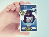 Football player cards concepts