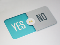 Segmented Yes/No Button