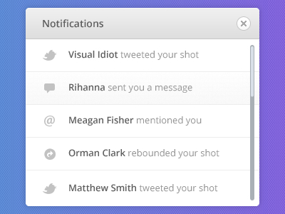 Notification-dribbble