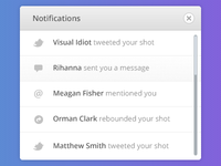 Notifications PSD