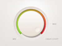 Volume Knob with progress (psd freebie)