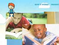Childrens website focused on reading