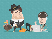 Hipsters_thanksgiving_dribbble_teaser