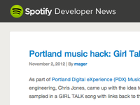 New Spotify developer blog design