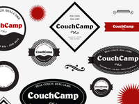 CouchCamp Stickers