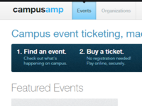 CampusAmp Events Page