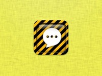 Caution Tape SMS/Messages iCon