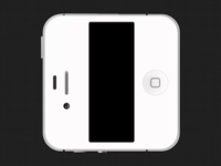 White iPhone 4S iCon