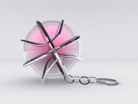 Dribbble Chromed Out Keychain