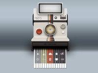 Polaroid Land Camera with Built-in Shredder