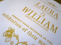 Letterpressed Wedding Invites
