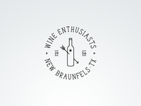 Wine Enthusiasts Vintage Fantasy Logo