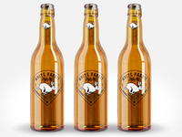 White Rabbit Pale Ale Vintage Logo Bottle Mockup
