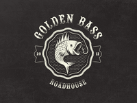 Golden Bass Roadhouse - Fantasy Vintage Logo