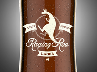 Raging Roo Lager - On a bottle