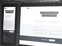 Web design agency concept