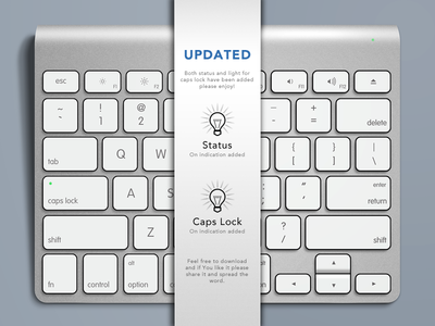 Download Apple Keyboard Free PSD