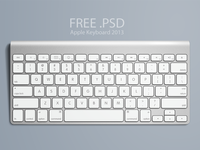 Apple Keyboard, Free .PSD