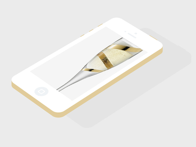 Download Flat iPhone 5S PSD Champagne