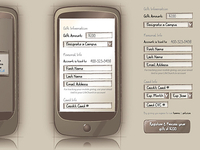 Wireframes for an upcoming mobile project