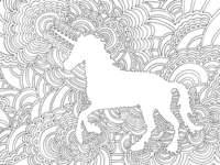 Drawing Meditation - Unicorn