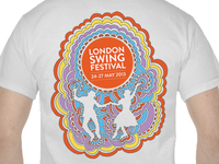 2013 London Swing Festival T-shirt Design