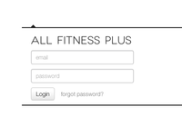 Fitness Plus Login