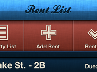 Collect Rent App - Rent List Screen