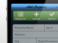 Collect Rent App - Add Property Screen