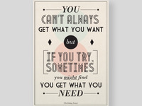 You Can't Always Get What You Want 2...