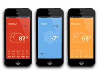 More iterations of flat weather app
