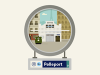 Paris – Pelleport Metro Entrance