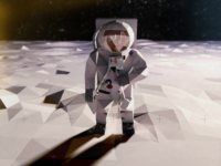 Buzz Aldrin Low Poly