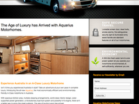 Aquarius Motorhome Website Design