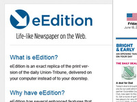 eEdition landing page