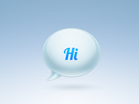 """Hi"" Bubble Icon"