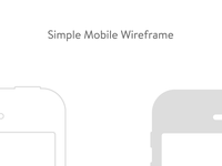 Simple Mobile Wireframe
