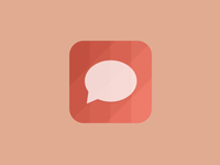 Geometric Chat Icon