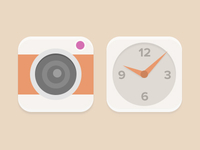 Camera And Clock Icons