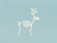 New Year's deer skeleton
