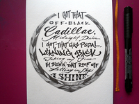 Lettering Lyrics, Macklemore & Ryan Lewis