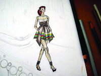 Fashion Illustration in process