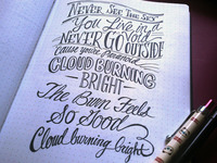 Lettering Lyrics. Feed Me