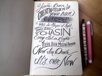 Lettering Lyrics, Burns- Lies